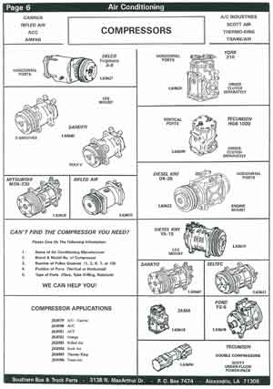 Air Conditioning Compressor Parts for School Buses