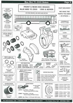 Blue Bird School Bus Disc Pads