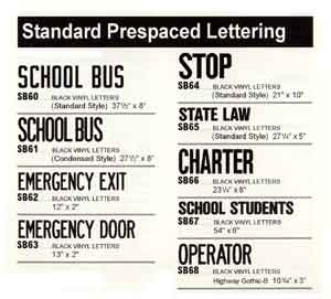 School Bus Decals And Lettering