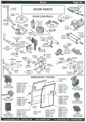 School Bus Door Control Parts