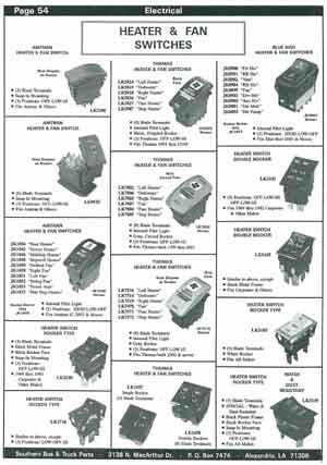 Heater Switches for School Buses