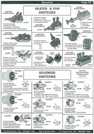 Switches for School Bus Heaters