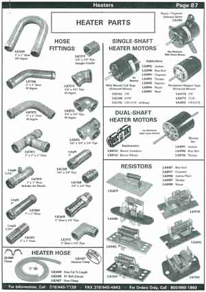 Heater Fittings and Connectors for School Buses