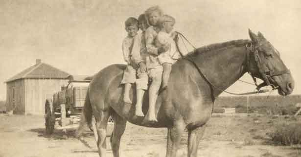 Lowell King on horseback
