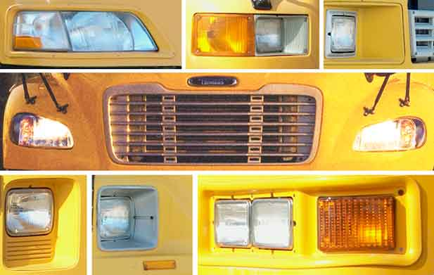 School Bus Headlight Parts