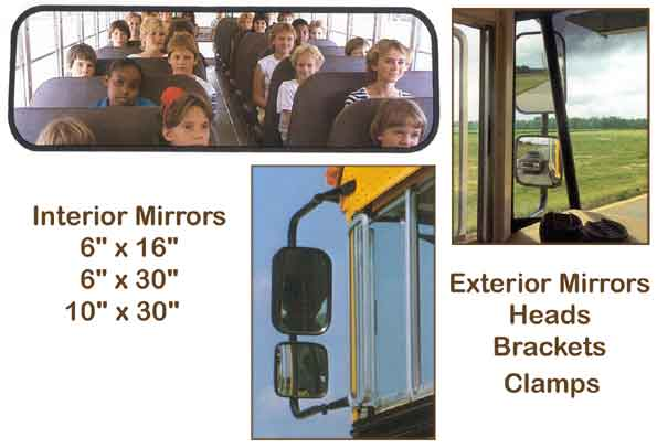 School Bus Rear View Mirrors