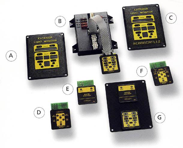 monitors 610 px jpg rh busparts com School Bus Lights Diagram Diagram and Names of School Buses