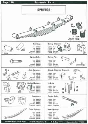 Spring Suspension Parts for School Buses